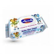 Aquella nedves törlőkendő E vitaminnal 72 db