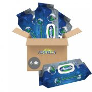 Aquella antibakteriális higiéniai kupakos törlőkendő 6x80 db