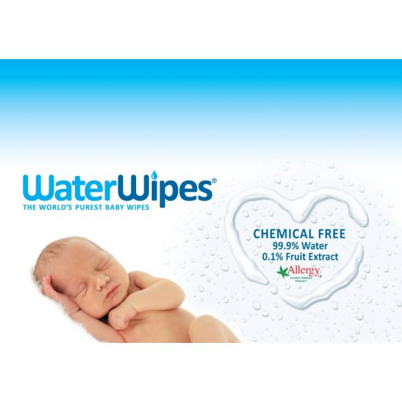 WaterWipes természetes baba törlőkendő 60 db
