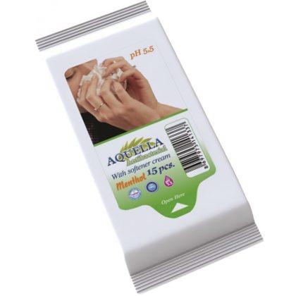 Aquella Antibacterial Menthol nedves törlőkendő 15 db