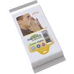 Aquella Antibacterial Lemon nedves törlőkendő 15 db-os