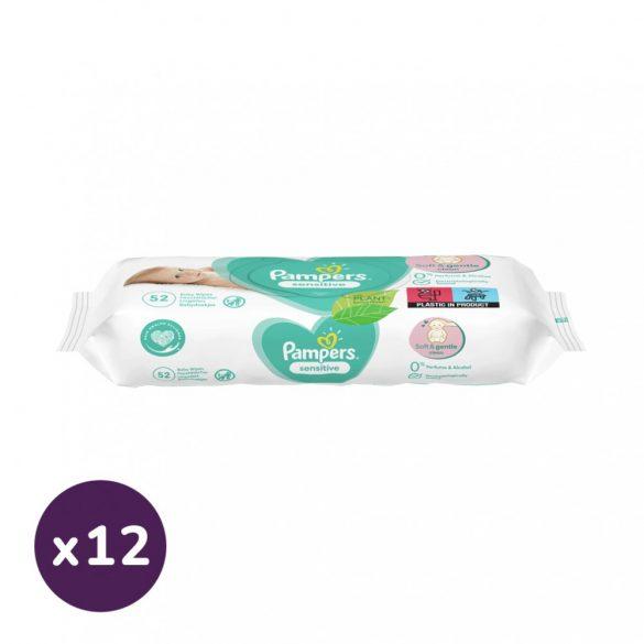 Pampers Sensitive nedves törlőkendő 12x52 db