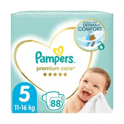 Pampers Premium Care pelenka, Junior 5, 11-16 kg, 88 db