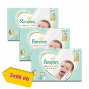 Pampers Premium Care Junior 5, 11-16 kg 2+1, 264 db