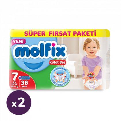 Molfix Pants bugyipelenka, XL 7, 19+ kg HAVI PELENKACSOMAG 2x36 db