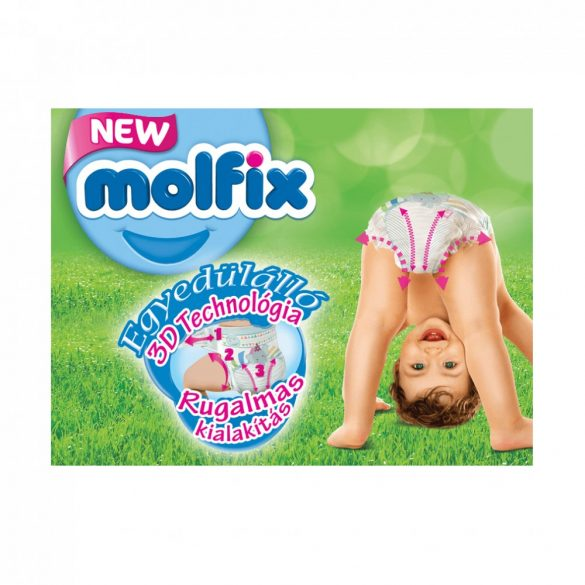 Molfix Pants bugyipelenka, Maxi 4, 9-14 kg, HAVI PELENKACSOMAG 3x52 db