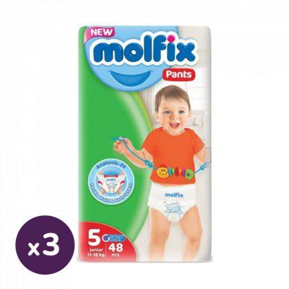 Molfix Pants bugyipelenka, Junior 5, 11-18 kg, HAVI PELENKACSOMAG 3x48 db