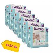 Bambo Nature öko pelenka, Újszülött 1, 2-4 kg HAVI PELENKACSOMAG 6x22 db