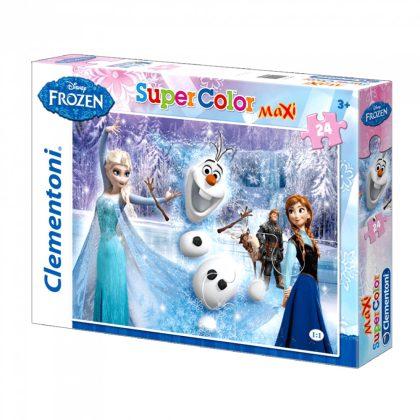 Clementoni Jégvarázs/Frozen SuperColor Maxi puzzle - 24 db (68x48 cm)