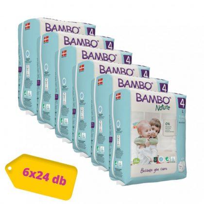 Bambo Nature öko pelenka, Maxi 4, 7-14 kg HAVI PELENKACSOMAG 6x24 db