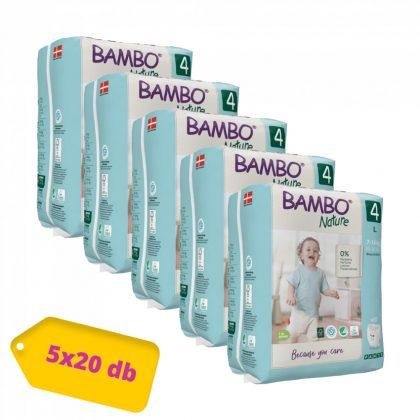 Bambo Nature öko bugyipelenka, Maxi 4, 7-14 kg HAVI PELENKACSOMAG 5x20 db