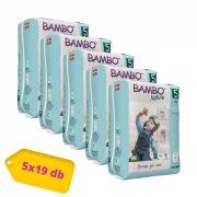 Bambo Nature öko bugyipelenka, Junior 5, 12-18 kg HAVI PELENKACSOMAG 5x19 db