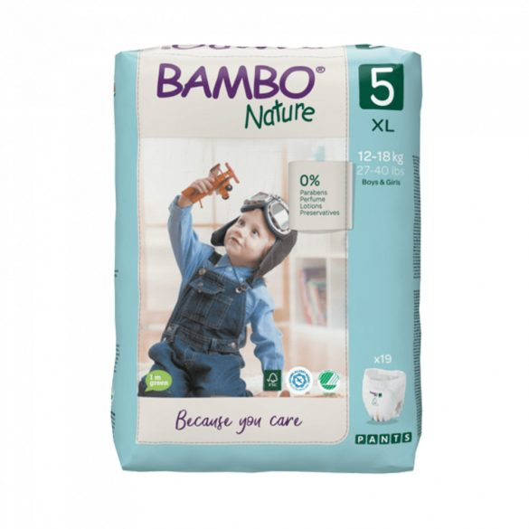 Bambo Nature öko bugyipelenka, Junior 5, 12-18 kg, 19 db