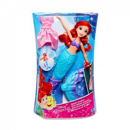 Disney hercegnők Ariel baba ruhával és levehető uszonnyal