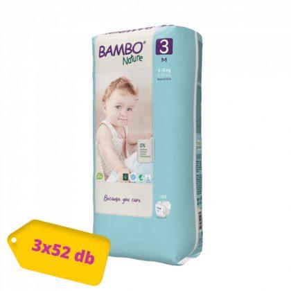 Bambo Nature öko pelenka, Midi 3, 4-8 kg HAVI PELENKACSOMAG 3x52 db