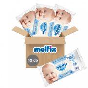 Molfix Sensitive Skin izotóniás illatmentes kupakos nedves törlőkendő 12x60 db