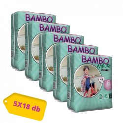 Bambo Nature öko bugyipelenka, XL 6 HAVI PELENKACSOMAG 18 kg+, 5x18 db
