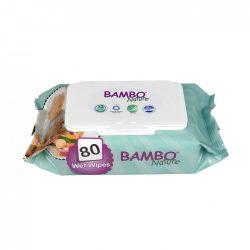 Bambo Nature öko nedves törlőkendő 80 db