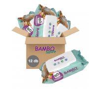 Bambo Nature öko nedves törlőkendő 12x80 db