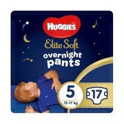 Huggies Elite Soft Overnights Pants éjszakai bugyipelenka 5, 12-17 kg, 17 db