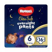 Huggies Elite Soft Overnights Pants éjszakai bugyipelenka 6, 15-25 kg, 16 db