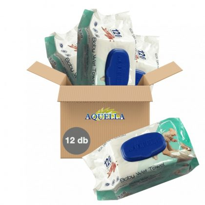 Aquella Prémium kupakos törlőkendő csomag 12x120 db