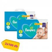 Pampers New Baby Mini 2, 4-8 kg HAVI PELENKACSOMAG 2x100 db