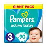 Pampers Active Baby pelenka, Midi 3, 6-10 kg, 90 db