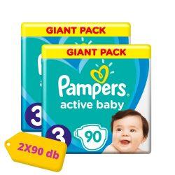 Pampers Active Baby Midi 3, 6-10 kg HAVI PELENKACSOMAG 2x90 db