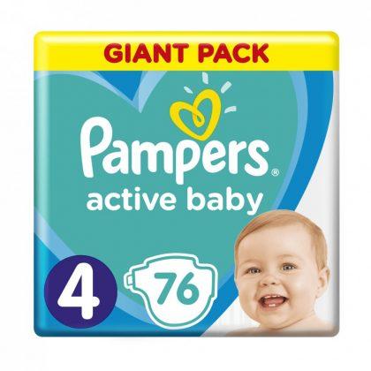 Pampers Active Baby pelenka, Maxi 4, 9-14 kg, 76 db