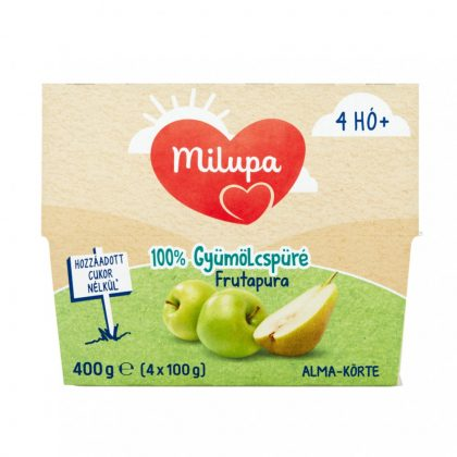 Milupa Frutapura alma-körte gyümölcspüré 4 hó+ (4x100 g)