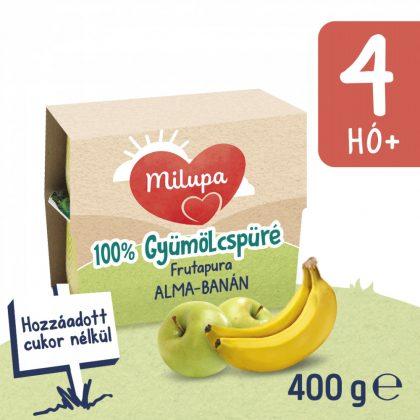 Milupa Frutapura alma-banán gyümölcspüré 4 hó+ (4x100 g)