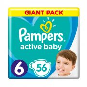 Pampers Active Baby pelenka, Junior 6, 13-18 kg, 56 db