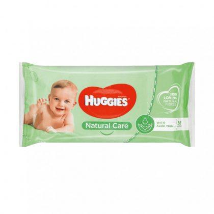 Huggies Natural Care nedves törlőkendő 56 db