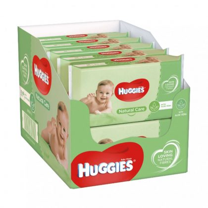 Huggies Natural Care nedves törlőkendő 10x56 db