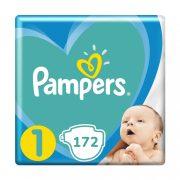 Pampers New Baby pelenka, Újszülött 1, 2-5 kg, HAVI PELENKACSOMAG 172 db