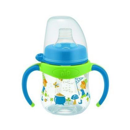 CSOMAGOLÁSSÉRÜLT - Nip tanuló pohár 150 ml 6 hó+ (kék)