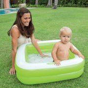 INTEX Játszódoboz zöld baba medence (85x85x23 cm)