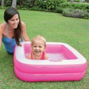 INTEX Játszódoboz rózsaszín baba medence (85x85x23 cm)