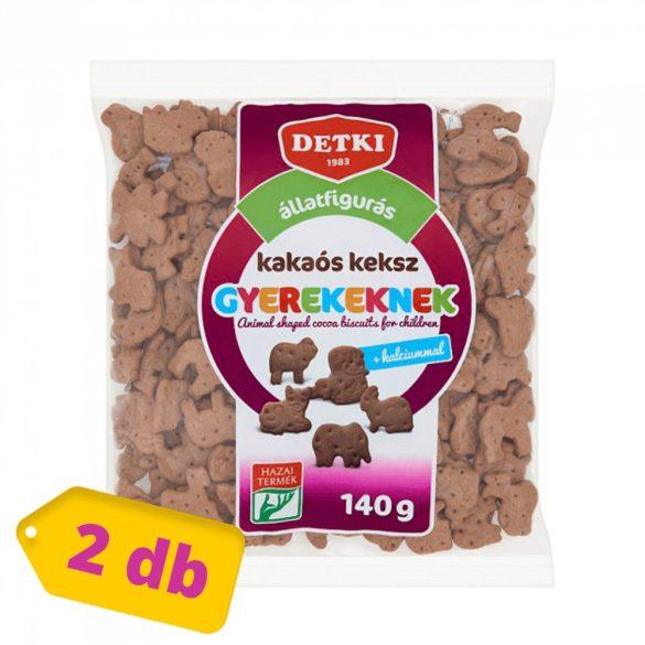Detki állatfigurás keksz - kakaós (2x140 g)