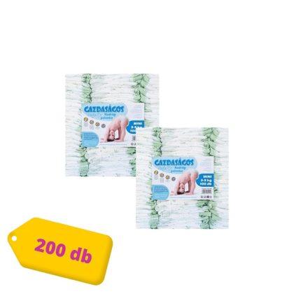 Gazdaságos pelenka Mini 2, 3-5 kg HAVI PELENKACSOMAG 2x100 db (különböző színekben és mintákkal)
