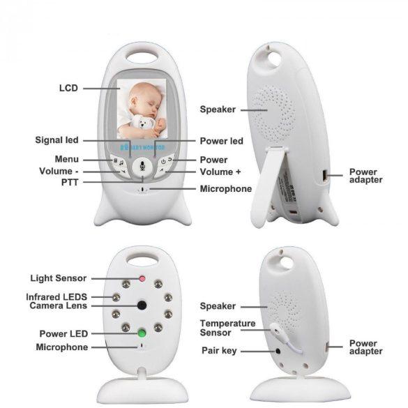 Kamerás bébiőrző monitor