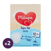 Milupa tejalapú anyatej-kiegészítő tápszer, natúr tejes ital 12 hó+ (2x600 g)
