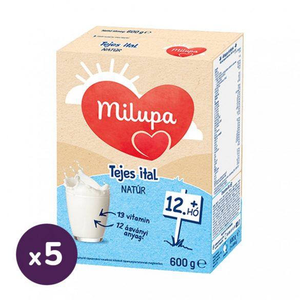 Milupa tejalapú anyatej-kiegészítő tápszer, natúr tejes ital 12 hó+ (5x600 g)