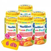 Hamánek Happy Fruit bébidesszert 100% gyümölcs alma-sárgabarack-őszibarack, 4 hó+ (6x190 g)