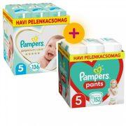 Pampers Premium Care Junior 5, 136 db + Pampers Pants Junior 5, 152 db