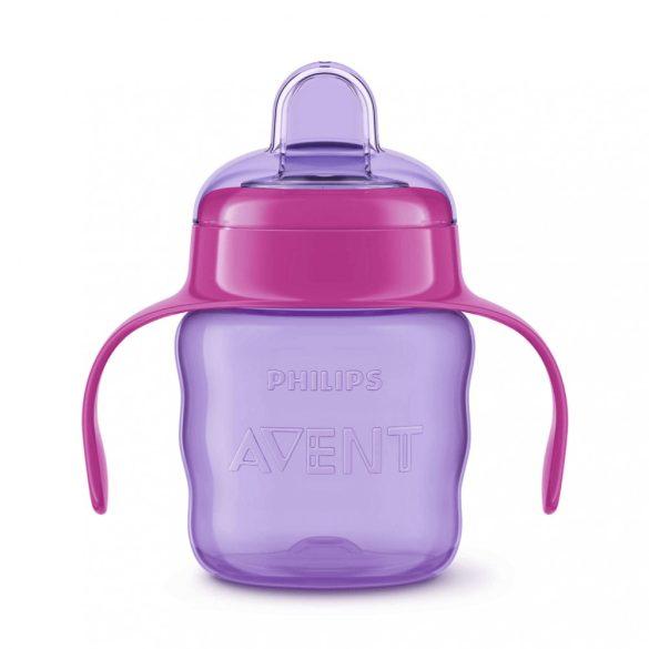 Avent SCF551/03 Itatópohár Classic 200 ml itatófüllel (lila)