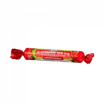 Vitaday 1x1 C-vitamin szőlőcukor epres rágótabletta (17 db)