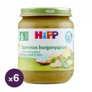 Hipp BIO spenótos burgonyapüré, 6 hó+ (6x190 g)