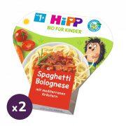 Hipp BIO bolognai spagetti, 12 hó+ (2x250 g) - tálcás menü